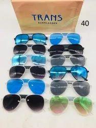 Palstic Male TRANS Sunglasss, Size: Free