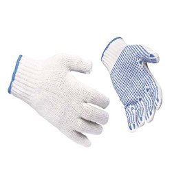 Dotted White And Blue Gloves