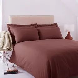 Brown Satin Double Bed Sheet