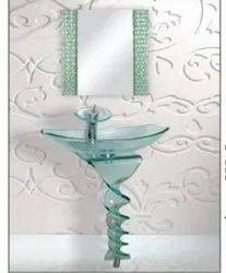 UGAM Wall Mounted Designer Glass Wash Basin, For Home, Model Name/Number: 7001