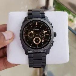 Round Analog-Digital Fossil Wristwatch For Men
