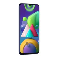 4G blue Samsung Galaxy M21, Memory Size: 64, Screen Size: 6.4