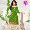 Bandhani Cotton Embroidery Unstitched Dress Material -10 Pcs
