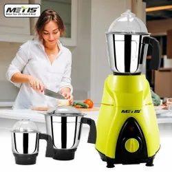 Yellow 550 W Metis Mixer Grinder, For Wet & Dry Grinding, Capacity(Litre): 700 Ml