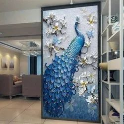 Multicolor Ceramic Poster Tile, Thickness: 8 - 10 mm, Size: Large
