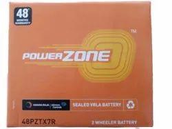 Capacity: 7 Ah 48PZTX7R Power Zone Sealed VRLA Battery