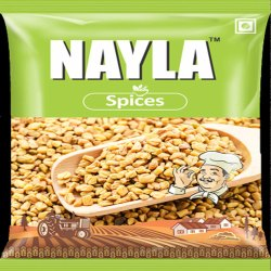 NAYLA Yellow Fenugreek Seeds Methi Dana, Packaging Type: Packet, Packaging Size: 100g