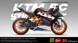 Ktm Rc Racing Version 1.1 Edition Full Body Wrap,Decals,Sticker Kit