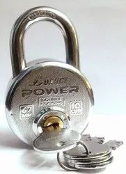 With Key Normal Luxury Power Round Padlock, Packaging Size: <10 Piece, Chrome