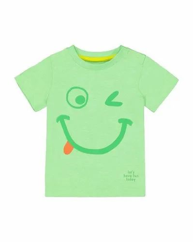 Cotton Casual Wear Kids Printed Tshirt, Size: 3-5 Years