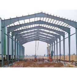 Steel Modular Ms Shade Fabrication Work