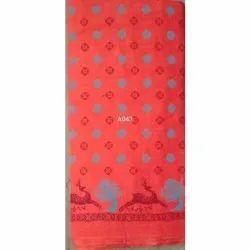 Printed Red Cotton Churidar Garments Material