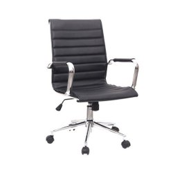 Black Polyester Office Chairs