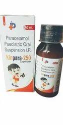Kinpara-250 Paracetamol Paediatric Oral Suspension IP, Packaging Size: 60 Ml
