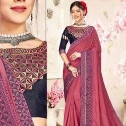 Vichitra Silk Printed Saree Catatlog