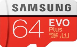 Samsung Evo Plus 64gb Memory Card, For Mobile, Size: MicroSD