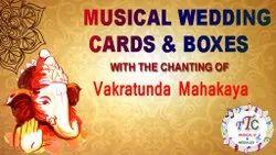 Customized Indian Wedding Cards And Boxes Musical Modules Vakratunda Mahakaya