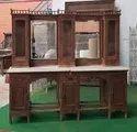 Antique Glass Door Cabinet Showcase