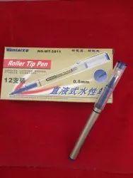 蓝色塑料滚轴尖笔,书写,包装类型:盒