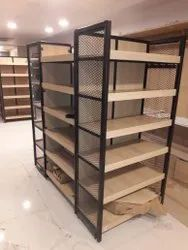Center Rack With Wooden Shelve