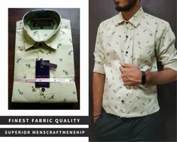 Aero Style Party Wear Men Casual Printed Shirts