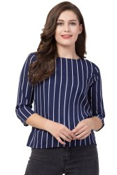 Ladies Striped Cotton Top