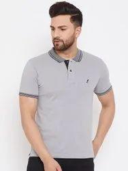 Harbor N Bay Men's Grey Solid T Shirts