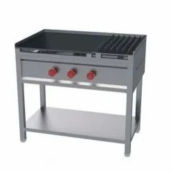 3 Stainless Steel Chapati Hot Plate Cooking Range, For Commercial