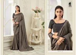 Sahiba Sahib1 Designer Vichitra Silk Stylish Saree, 6 m (with blouse piece)
