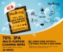 70% IPA Wipes -Masking Alcohol Based Multipurpose Cleaning Wipes
