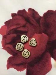 Brown Garments Wooden Button