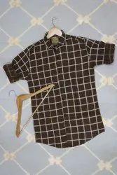 Fashionaex Olive Cheapest Prise In Cotton Check Shirt, Machine wash, Size: M-xxl
