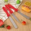 3-In-1 Multi-Function Stainless Steel Cake Icing Spatula Knife Set, 3-Pieces (Multicolor)