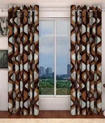 Clover Multicolor Supremo Printed Door & Window Curtains, Size: 7 Ft