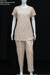 Ladies Cotton Printed Night Suits