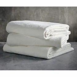 Samarth Textiles Plain White Cotton Hotel Towel, Rectangle, Size: 36 X 72 Inch