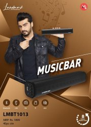Black Heavy Bass LMBT1013 Music Bar, Batteries