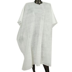 Non Woven White Disposable Salon Apron, Size: 63 Inch