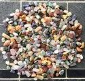Pebble Stone Polished Mix Agate Chips Semi Precious Pebbles, For Decoration, Interior, Dimensions: 15-40mm