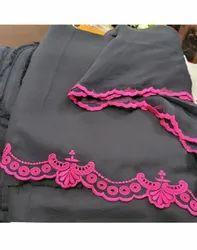Black Plain Pashmina Ladies Suits, 2.5 M