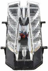 Plastic White Two Wheeler Tail Light Assembly