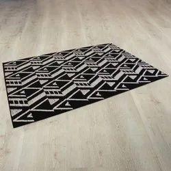 Woolen Black Handmade Wool Rugs At Best Price, Size: 160x230cm