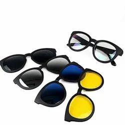Magic Vision Glasses Quick Change Lenses Magnet 5 In 1 HD Polarised UV Protected Unisex Sunglasses