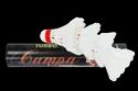 Badminton Shuttlecock White Shuttle Cock Feather - Campa, Natural Feathered, Packaging Size: Box Packing