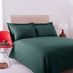 Green Satin Double Bed Sheet