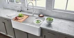 Single Glossy Ceramic Kitchen Sink