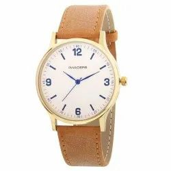 Be Invaders Analog Gold And Brown Premium Men's Watch