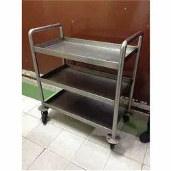 3 Tier Stainless Steel Kitchen Trolley