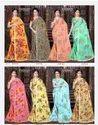 Ladies Printed Tussar Silk Saree