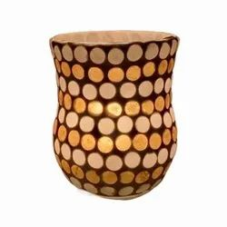 DC35048 Mosaic Glass Tealight Candle Holdar